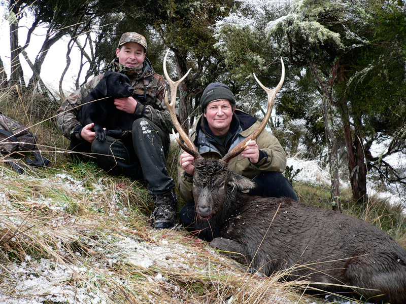 one of the best Sika Hunting guides in the Country, here after a successful hunt.
